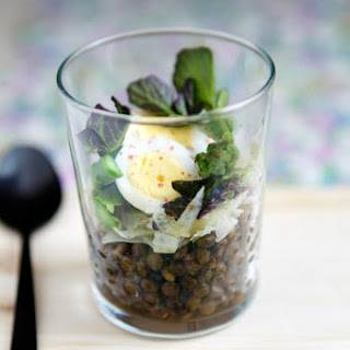 Green Lentil Salad With Asparagus, Apple And Fennel