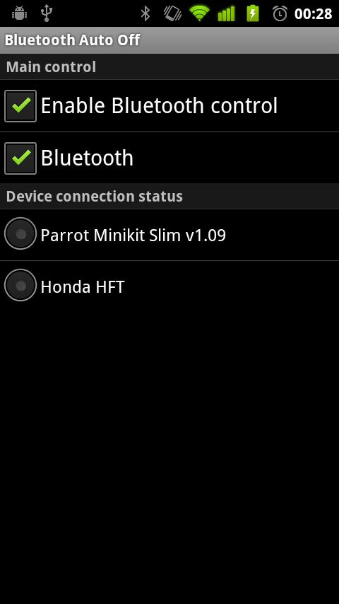 Bluetooth Auto Off- screenshot