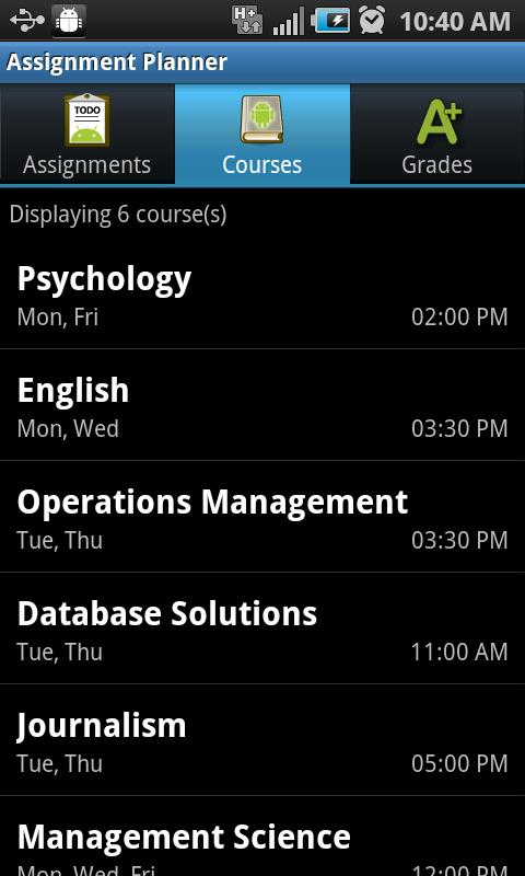Assignment Planner PRO - screenshot
