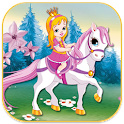 princess on the horse icon