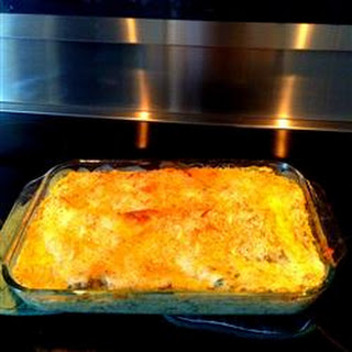 Chicken Lasagna with White Sauce.
