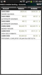 WSECU Mobile Banking - screenshot thumbnail