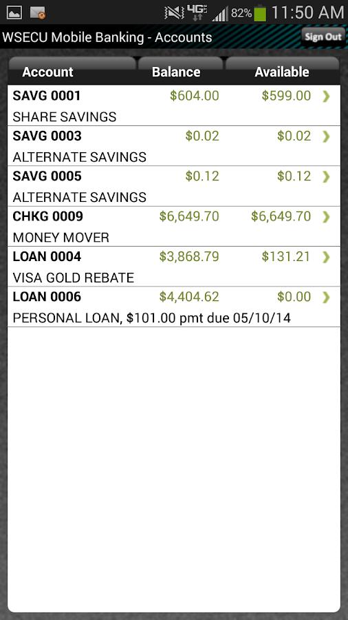 WSECU Mobile Banking - screenshot