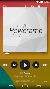 Poweramp skin Flat Transparent - screenshot thumbnail
