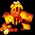 3D Gold $ logo