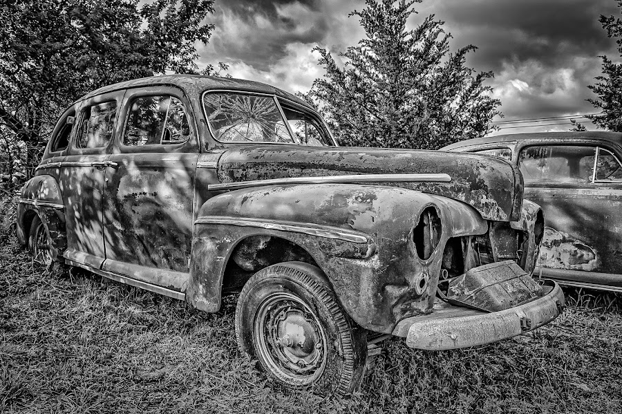 Oliver Jordan Collection Sedan by Ron Meyers - Black & White Objects & Still Life