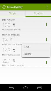 Arrivo Sydney Transit App- screenshot thumbnail