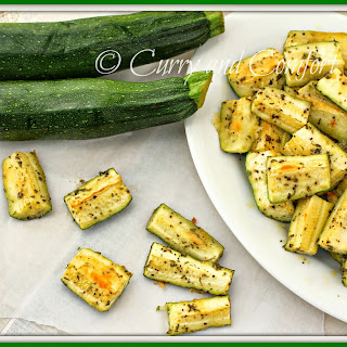 Garlicky Parmesan Roasted Zucchini