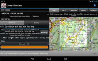 Screenshot of MyTrails