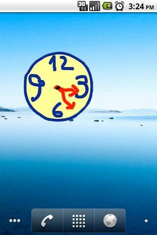 scribble widget clock 2x2- screenshot