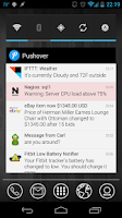 Screenshot of Pushover