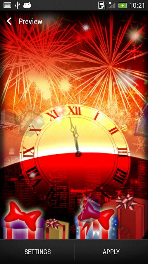 New Year Live Wallpaper - screenshot