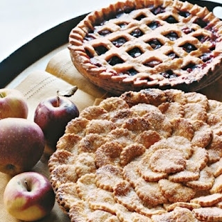 Spiced Apple Pie with Fluted Round Cutouts.