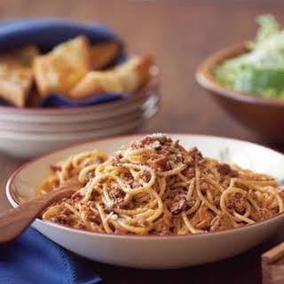 Easy Spaghetti Bolognese.
