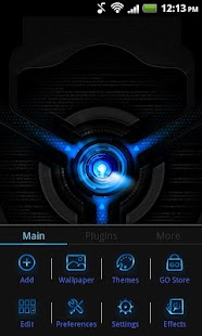 Go Launcher EX Black Mexdroid- screenshot thumbnail
