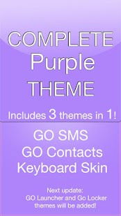 GO SMS Purple Theme - screenshot thumbnail