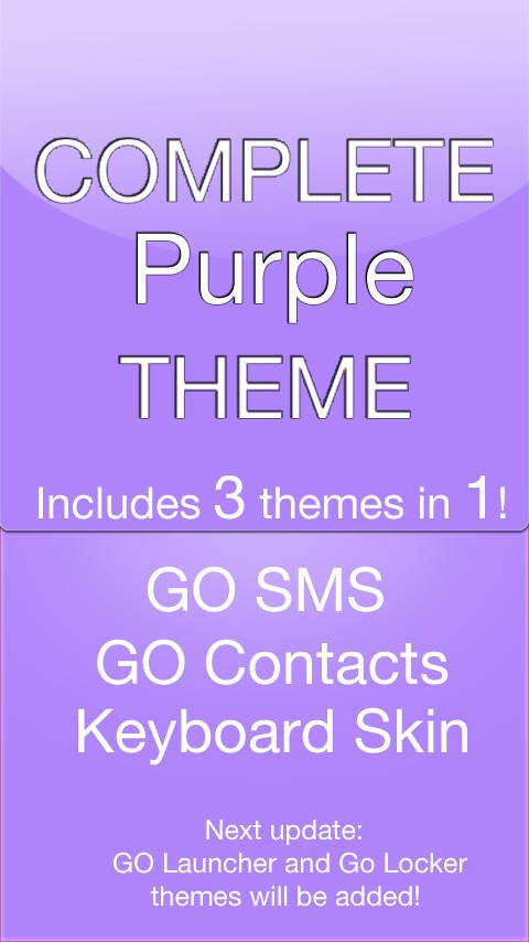 GO SMS Purple Theme - screenshot