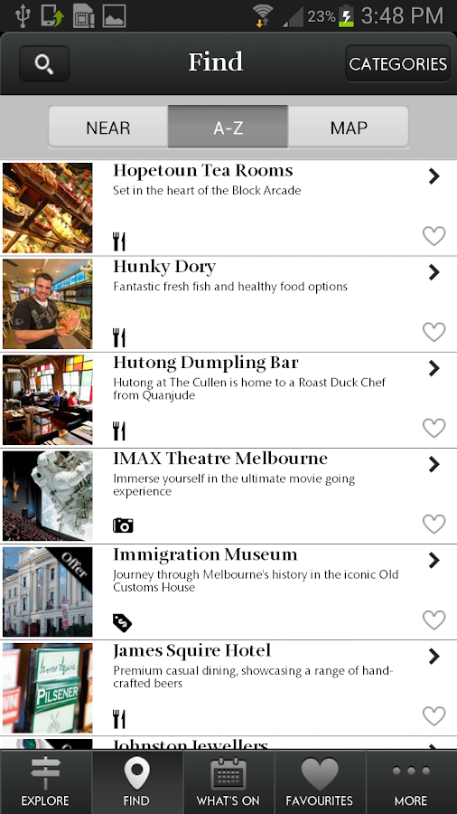 Melbourne Visitor Guide - screenshot