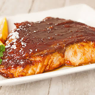 Molasses-Marmalade Glazed Salmon.