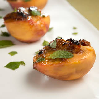 Mario Batali's Warm Peaches with Creamy Date Sauce.