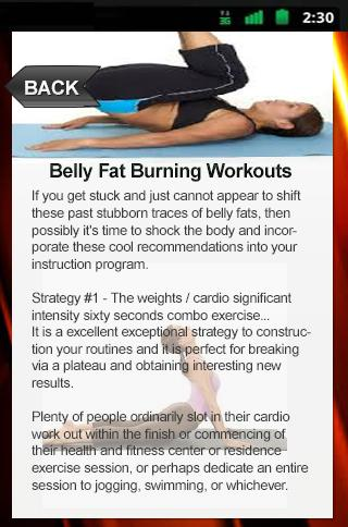 Belly Fat Burning Workouts
