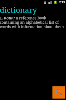 Screenshot of Dictionary Gratis