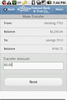Screenshot of First National Bank & Trust
