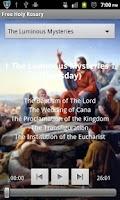 Screenshot of Scriptural Rosary