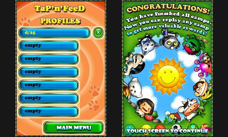 Tap'n'Feed Lite - screenshot