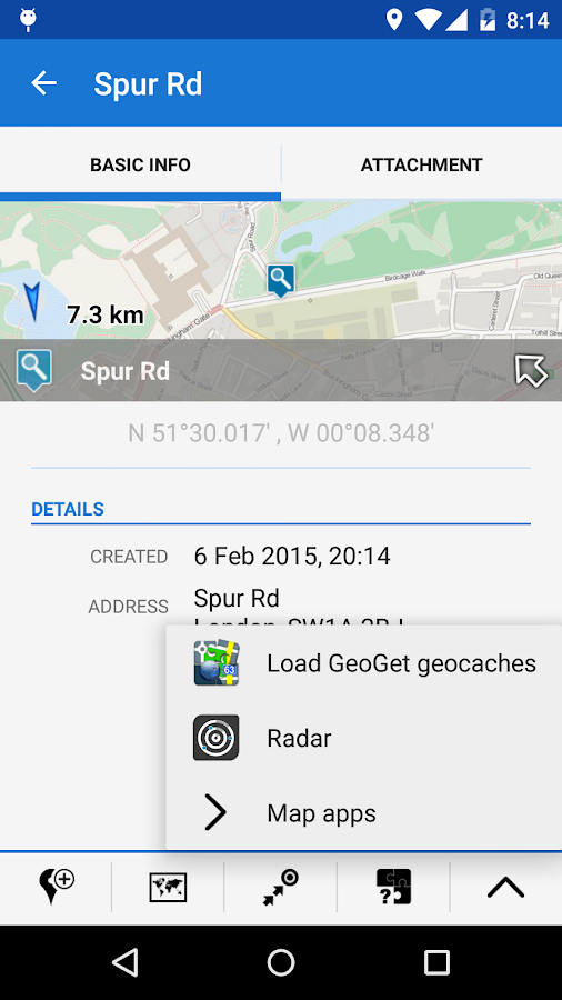 Locus - addon GeoGet Database- screenshot