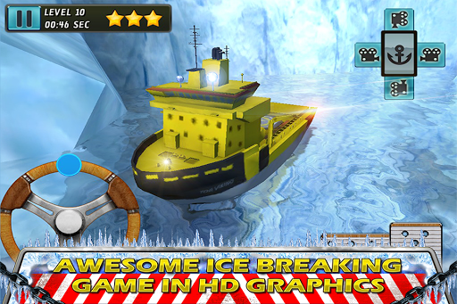 Boat Driving: Ice adventure 3D
