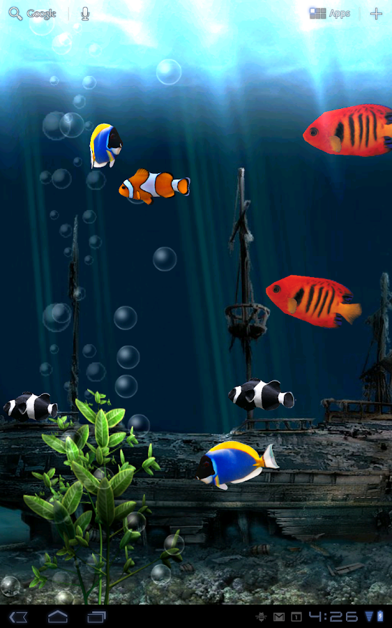 Aquarium free live wallpaper android apps on google play for Fish wallpaper live