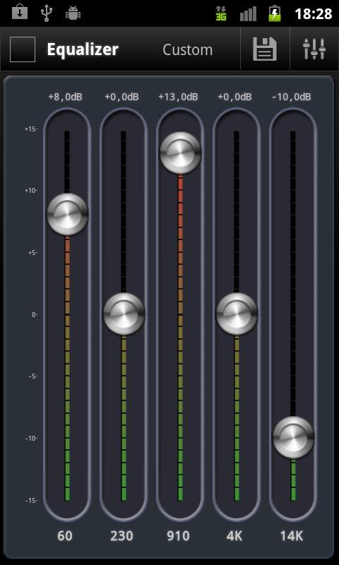 AnEq Equalizer: captura de pantalla