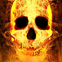 Burning Skull Live Wallpaper icon