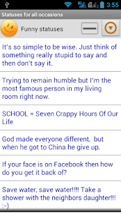 Statuses for all occasions - screenshot thumbnail