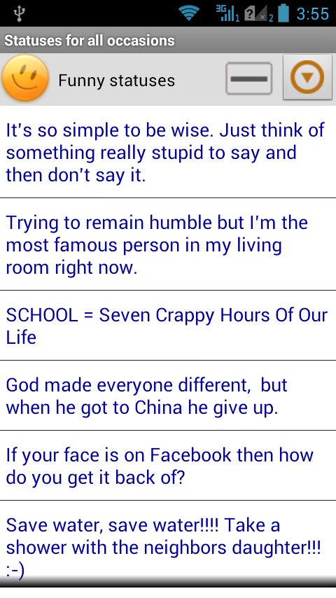 Statuses for all occasions - screenshot