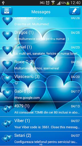 GO SMS Proのブルーハーツ