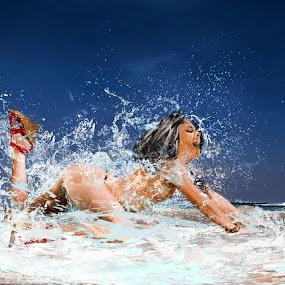 Meme by Felix M - Digital Art People ( water, model, splash, unedited, boat, untouched, heat, portrait, non-photoshop, sexy, sky, girl, occean, blue, hot,  )