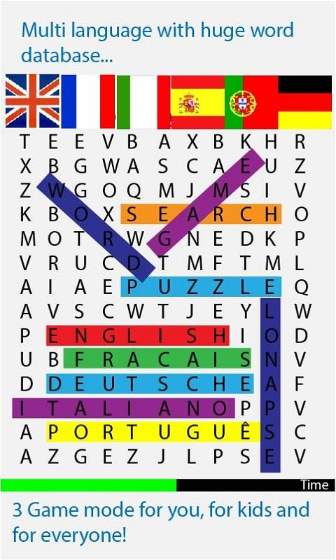Word search 2013 - screenshot