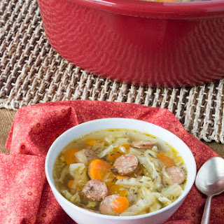 Crock Pot Andouille Sausage Cabbage Soup Recipe