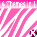 White Zebra Complete 4 Themes icon