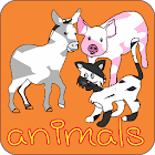paint and coloring animals icon