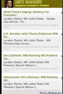 2012 Candidate: Mitt Romney - screenshot thumbnail
