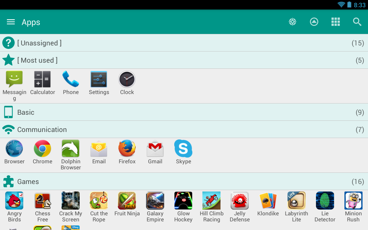 Glextor AppManager & Organizer - screenshot