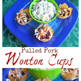 Pulled Pork Wonton Cups