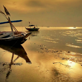 boats and sunrise by Herry . - Instagram & Mobile Android