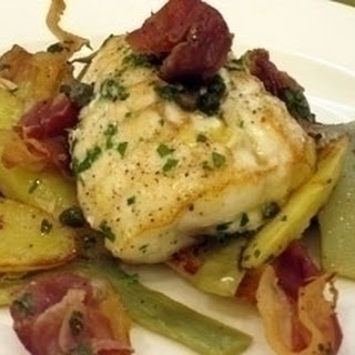 Monkfish With Artichokes, Potatoes And Prosciutto.