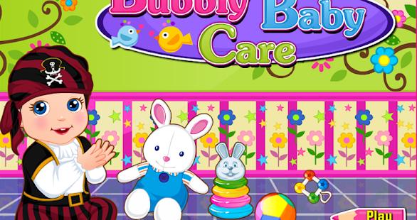 天真活潑的嬰兒護理 - 女孩遊戲