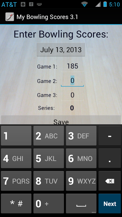 My Bowling Scores - screenshot