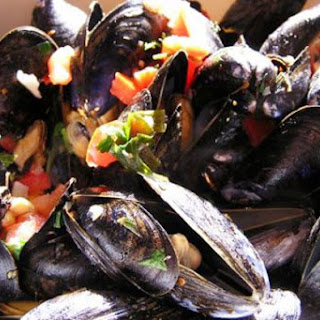 Spicy Southwest Mussels.